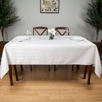 Riegel® Satin Stripe 102-Inch x 60-Inch Oblong Tablecloth in White