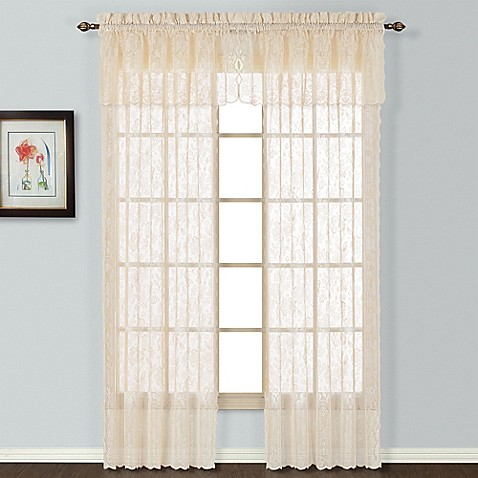 Windsor Lace Window Curtain Panel And Valance Bed Bath