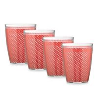 Kraftware™ Fishnet 4-Piece Doublewalled Plastic Double Old Fashioned Glasses in Flag Red