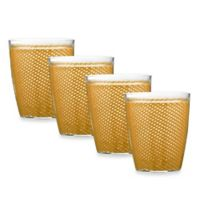 Kraftware™ Fishnet 4-Piece Doublewalled Plastic Double Old Fashioned Glasses in Golden