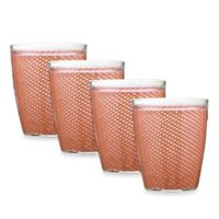 Kraftware™ Fishnet 4-Piece Doublewalled Plastic Double Old Fashioned Glasses in Orchid