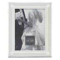 Reed & Barton® Luxe Collection 5-Inch x 7-Inch Deco Picture Frame in White/Silver