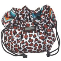 Hadaki Jewelry Sack in Luna Blue Safari Cheetah