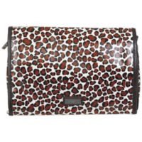 Hadaki Toiletry Pod Roll-Up in Luna Blue Safari Cheetah