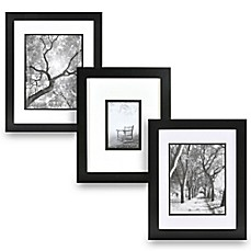 Real Simple 174 Black Wood Wall Frame With White Over Black