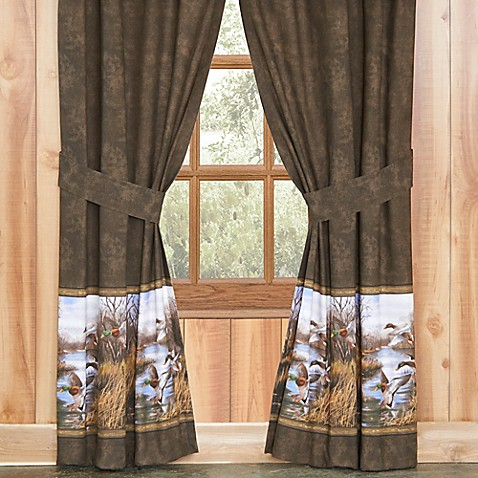 Duck Approach Window Curtain Panel And Valance Bed Bath