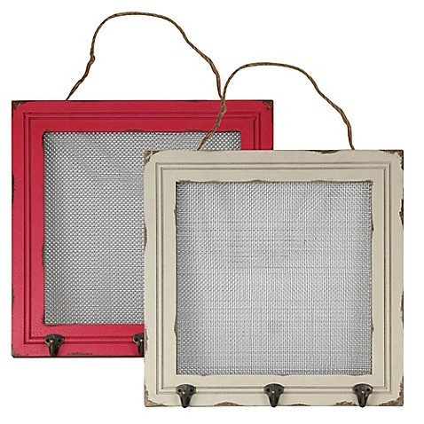 16-Inch x 16-Inch Mesh and Wood Frame Jewelry Holder - Bed Bath & Beyond