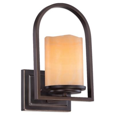 Buy Quoizel Aldora Wall Sconce in Palladian Bronze from Bed Bath & Beyond