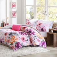 Olivia Reversible Twin/Twin XL Comforter Set in Pink