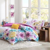 Olivia Reversible Twin/Twin XL Comforter Set in Fuchsia