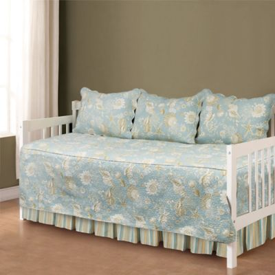 Natural Shells Daybed Bedding Set In Blue/Beige