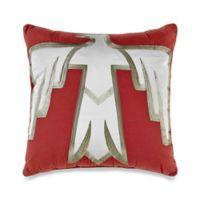 Desert Dream Square Throw Pillow in Burgundy