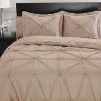 Memento Standard Pillow Sham with Swarovski® Accents in Taupe