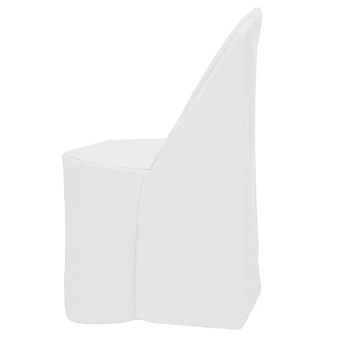 Buy Basic Polyester Cover For Plastic Folding Chair In White From Bed Bath A