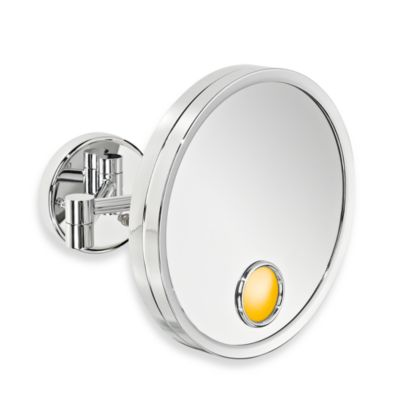 Jerdon Halo Light  3X Magnification Wall Mirror in Chrome. Buy Shaving Mirror from Bed Bath   Beyond