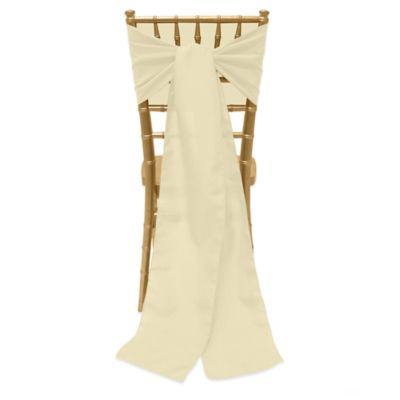 Basic Polyester Chair Ties In Tan