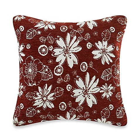 Square Throw Pillow Cover : MYOP Leno Square Throw Pillow Cover in Rust - Bed Bath & Beyond