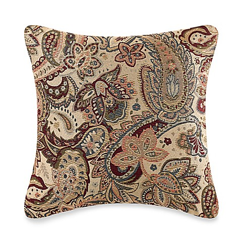 Throw Pillow Covers Bed Bath Beyond : Make-Your-Own-Pillow Livorno Square Throw Pillow Cover in Multi - Bed Bath & Beyond