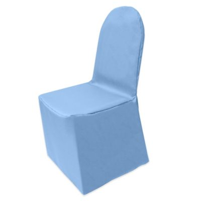 Genial Basic Polyester Cover For Banquet Chair In Light Blue
