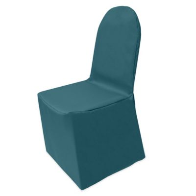 Superieur Basic Polyester Cover For Banquet Chair In Teal