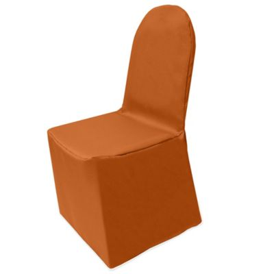 Great Basic Polyester Cover For Banquet Chair In Burnt Orange