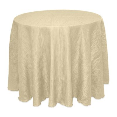Delano 90 Inch Round Tablecloth In Ivory