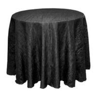 Delano 90-Inch Round Tablecloth in Black