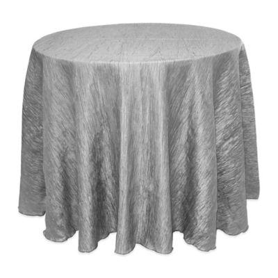 Delano 90 Inch Round Tablecloth In Silver