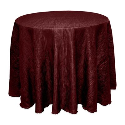 Superb Delano 90 Inch Round Tablecloth In Burgundy