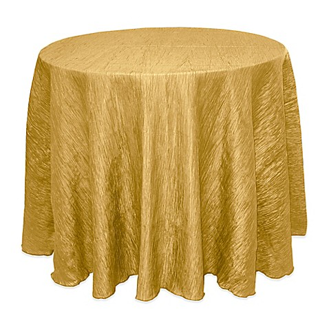Buy Delano 90 Inch Round Tablecloth In Harvest Gold From