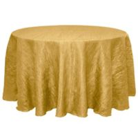 Delano 132-Inch Round Tablecloth in Harvest Gold