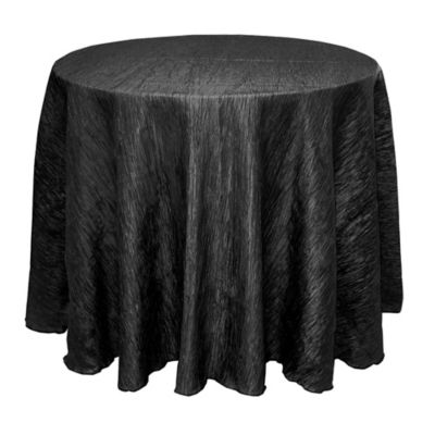 Delano 108 Inch Round Tablecloth In Black