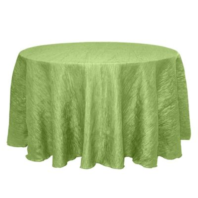 Delano 120 Inch Round Tablecloth In Apple Green