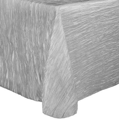 Beau Delano 50 Inch X 90 Inch Oblong Tablecloth In Silver