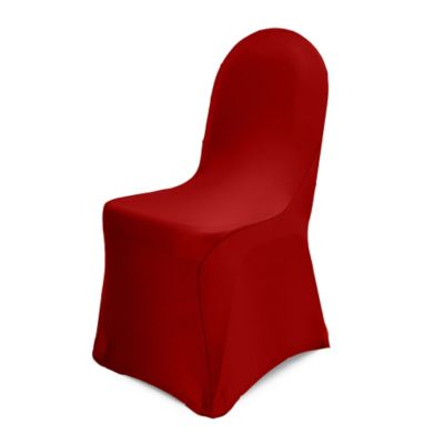 Pizzazz Banquet Chair Cover In Red