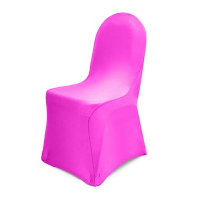 Pizzazz Banquet Chair Cover In Neon Pink