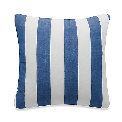 Buy Newport Montauk Square Throw Pillow in Denim Stripe from Bed Bath & Beyond