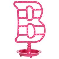 "Letter ""B"" Jewelry Stand in Pink"