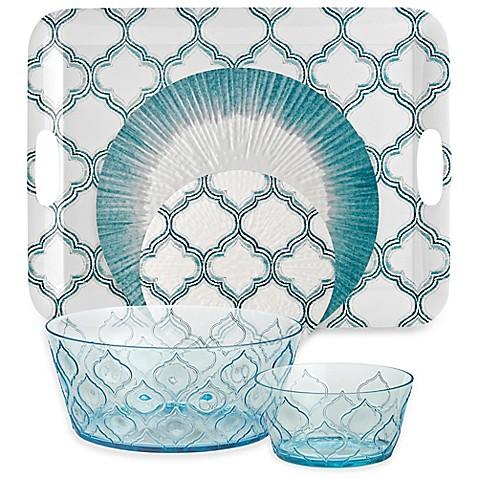 Radiance Aqua Acrylic Dinnerware  sc 1 st  Bed Bath \u0026 Beyond & Radiance Aqua Acrylic Dinnerware - Bed Bath \u0026 Beyond