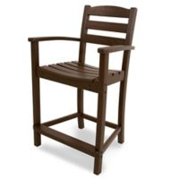 POLYWOOD® La Casa Counter Arm Chair in Mahogany
