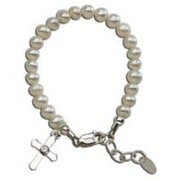 Cherished Moments Medium Sterling Silver and Freshwater Pearl Lacey Bracelet