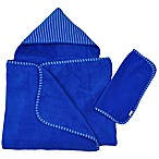 i play® Brights Organic Hooded Towel and Washcloth Set in Royal (2 Piece Set)