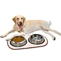 The Original™ Taupe Pet Bowl Mat in Large