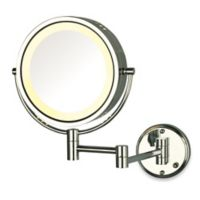 Jerdon 8X/1X Lighted Direct Wire Wall Mount Mirror in Chrome
