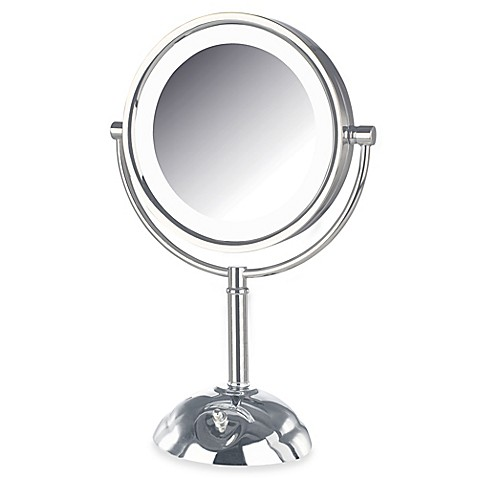 Jerdon 8X/1X LED Lighted Vanity Mirror in Chrome - Bed ...