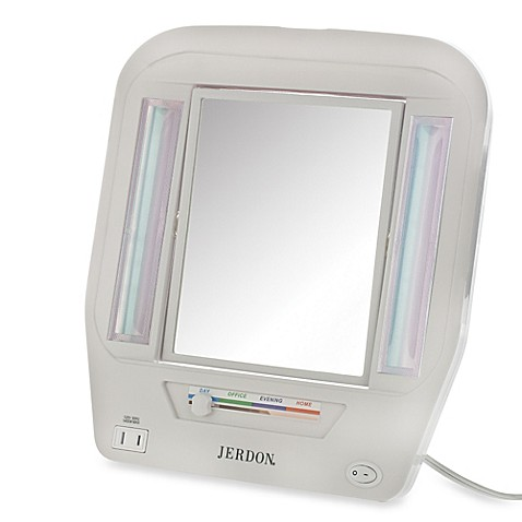 buy jerdon 5x 1x lighted makeup mirror in white from 85748