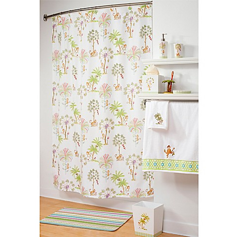 Curtains Ideas bed bath and beyond bathroom curtains : Dena™ Home Monkey Shower Curtain - Bed Bath & Beyond