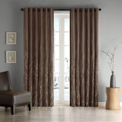 Andora 84 Inch Window Curtain Panel In Chocolate
