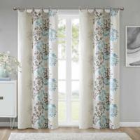 Anya 84-Inch Grommet Window Curtain Panel in Blue/Brown