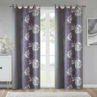 Anya 84-Inch Grommet Window Curtain Panel in Purple/Grey